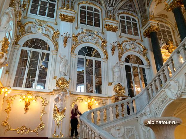Иорданская лестница Эрмитаж в Петербурге фото