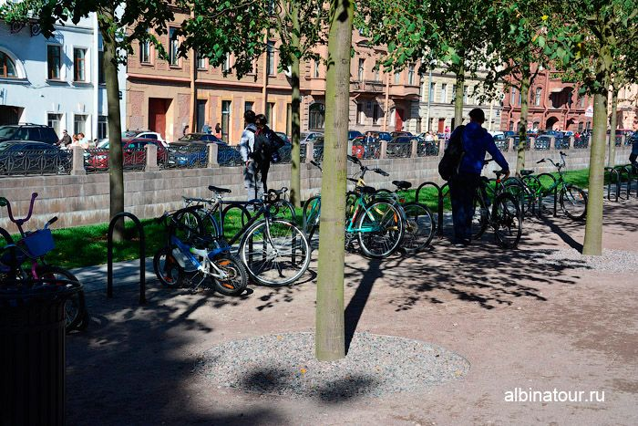 Новая Голландия Петербург фото парковка велосипедов у информационный центр