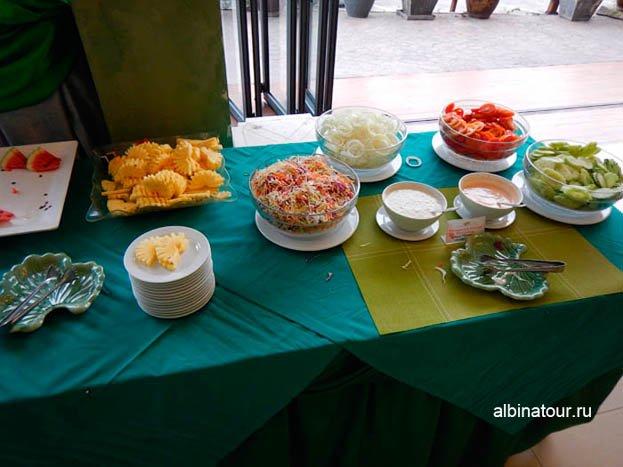 Фото овощей и фруктов в отеле