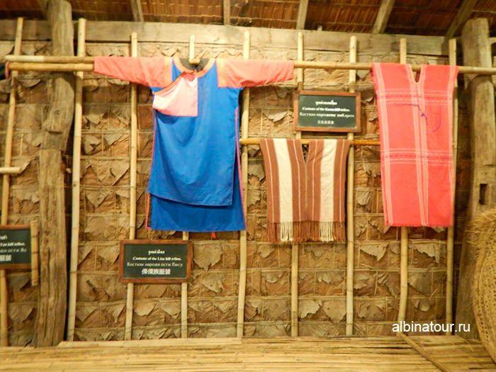 Фото национальные костюмы Тайской деревни на шоу Сиам Нирамит Пхукет