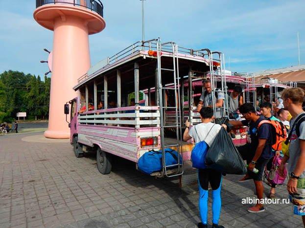 Пхукет порт Чалонг Chalong pier тук-тук