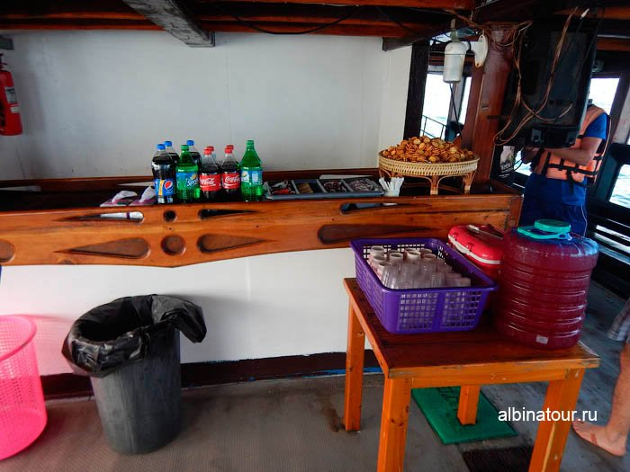 Фото барной стойки на корабле
