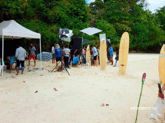 Фото На острове Хонг снимают кино Таиланд