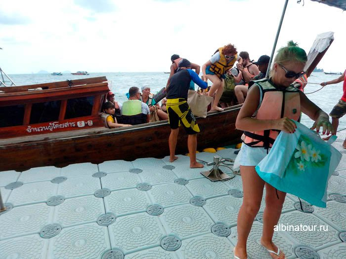Фото Высадка на пирс острова Хонг в Андаманском море