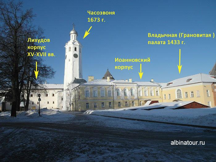 Исторические здания Владычного двора фото в Великом Новгороде
