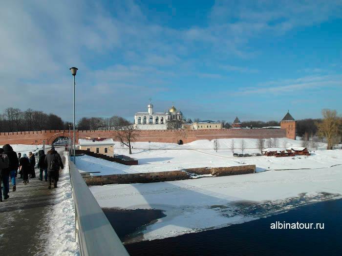 Фото Вид на Кремль со стороны Кремлёвского моста Великий Новгород