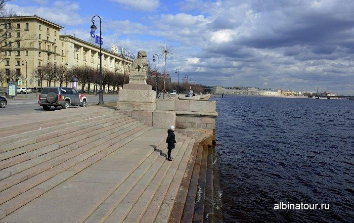 Фото спуск к реке Нева