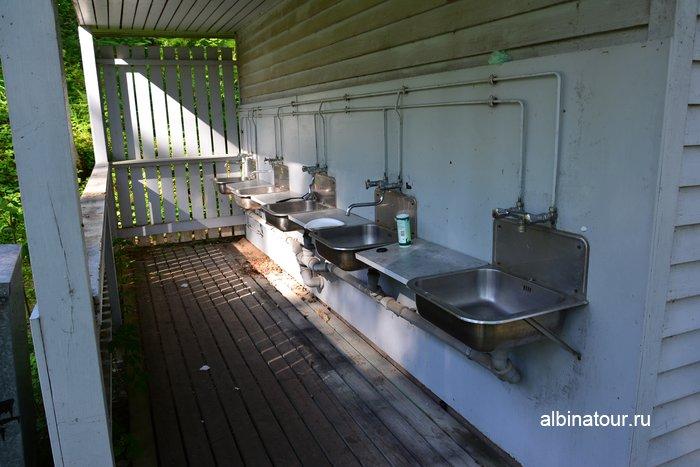 Фото открытая терраса кухни в Хухтинием | Huhtiniemi camping в Лаппеенранте