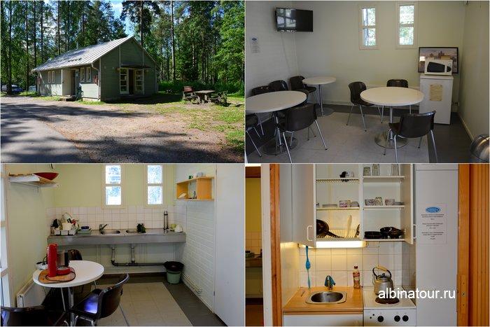 Фото другой кухни в кемпинге Хухтинием | Huhtiniemi camping в Лаппеенранте
