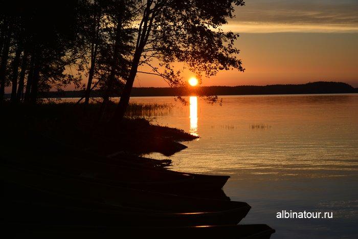 Фото закат солнца на заливе Sunisenselka озера Сайма Лаппеенранта в кемпинге Хухтинием | Huhtiniemi camping
