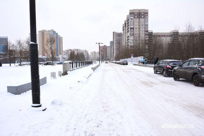 СПб парковка у Ледового дворца Клочков переулке