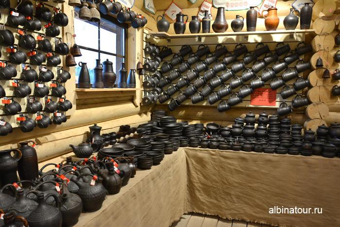 Горный парк в Карелии сувениры  посуда из молоченой керамики