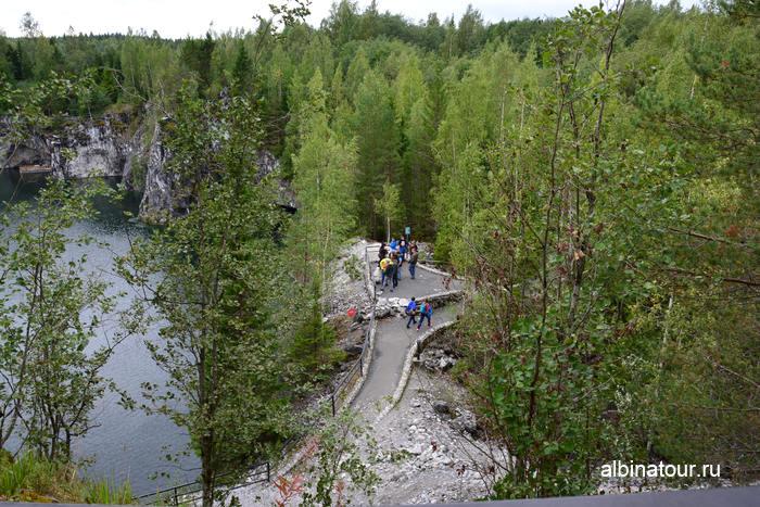 Россия Карелия  Рускеала мраморный каньон смотровая площадка 4