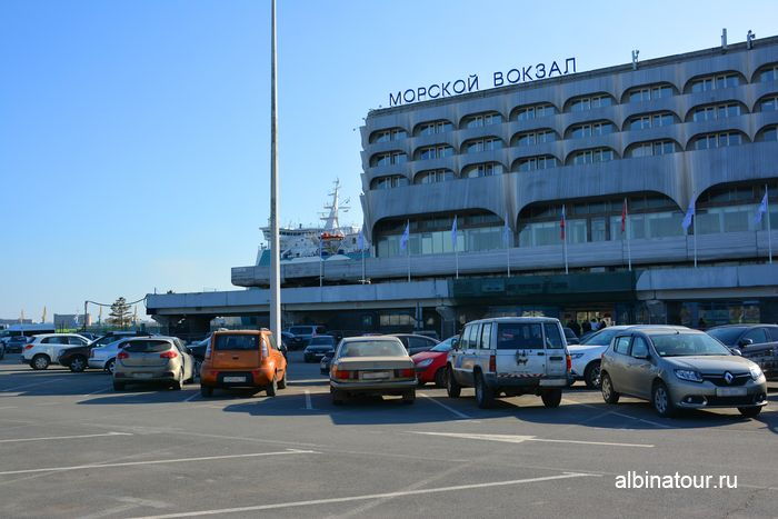 Санкт Петербург парковка у Морского вокзала паром Анастасия