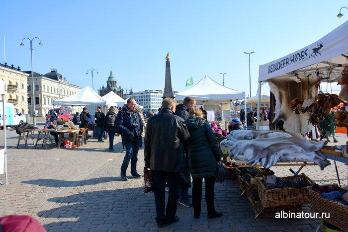 Рыночная площадь / Kauppatori в столице Финляндии