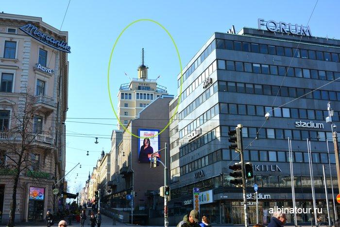 Смотровая площадка гостиница Solo Sokos Hotel Torni в Хельсинки