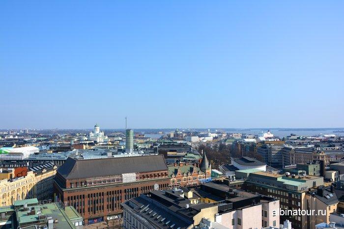 Вид на Хельсинки со смотровой площадки hotel Torni фото