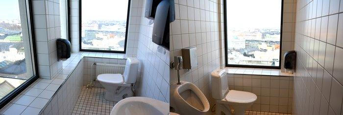 Туалет на смотровой площадки hotel Torni
