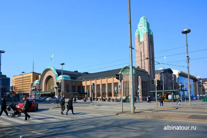 Железнодорожный вокзал города Хельсинки фото