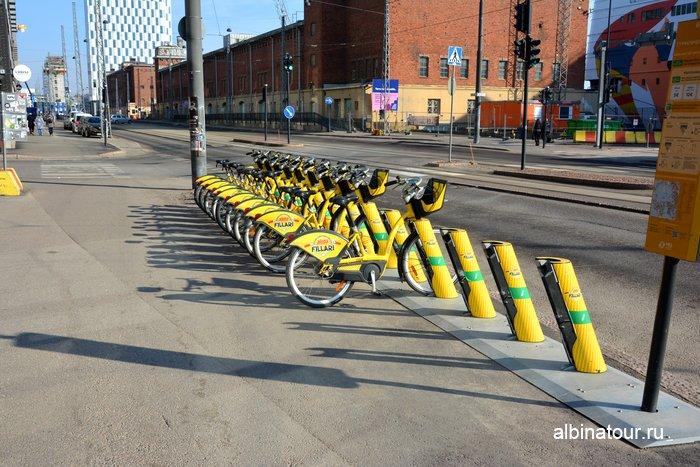 Хельсинки прокат аренда велосипедов у западного терминала / West terminal
