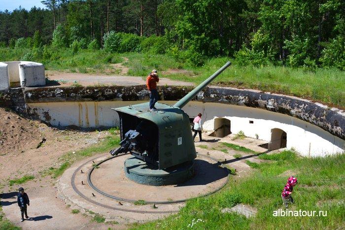 Корабельная артиллерийская установка Б-13 в музеи Красная горка в Лен. области