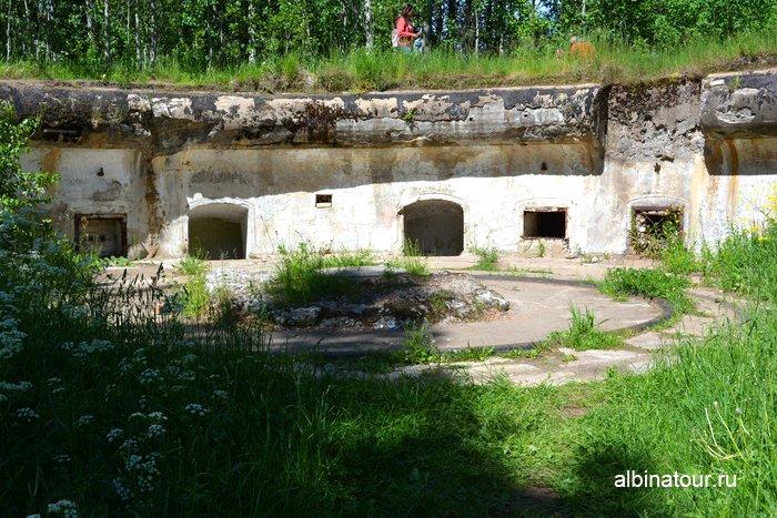 Выход  из казематов у другого артиллерийского дворика в музе