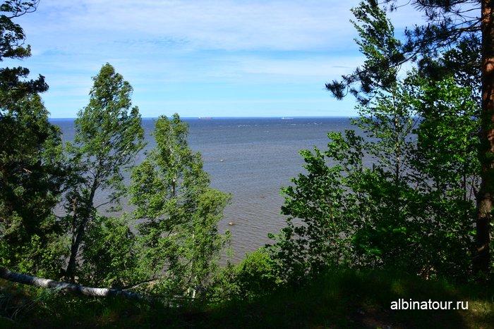 Вид на Балтийский залив у форта Красная горка Лен. область