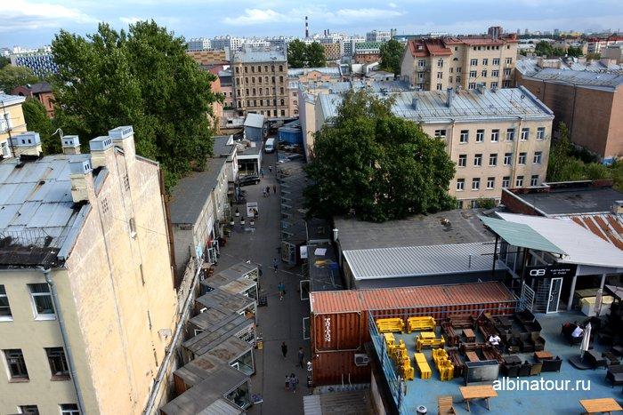 Пространство улица Контейнерная (второй двор) вид с верху лофт проект этажи СПб фото