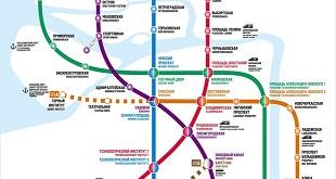 Карта схема метро Санкт-Петербурга 2019 г.